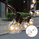 Lichterkette Glühbirne, Tomshine G40 Globe Lichterkette für Außen, 7.62M/25FT Warmweiß,...