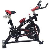 ISE Profi Indoor Cycle Ergometer Heimtrainer mit LCD Anzeige,Armauflage,Pulsgurt≥polsterte,13kg...