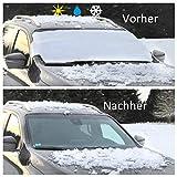 Eisschutzfolie faltbar, Frontscheibenabdeckung Auto, faltbar und einfach zu verpacken