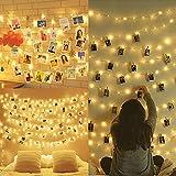 Amteker LED Foto Clip Lichterketten für Zimmer, 100 LED 10M Bilderrahmen dekor für innen, Haus,...