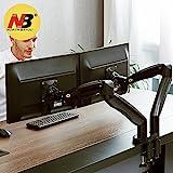NB North Bayou F195A 22' - 32' Dual Monitor Tischhalterung mit Justierbare Gasfeder Ergonomische 2...