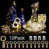 12 Stück LED Flaschenlicht, BIG HOUSE 20 LEDs 2M Lichterkette Kupferdraht batteriebetriebene...