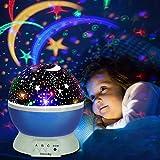 Projektor Lampe, Omitium LED Sternenhimmel Projektor Nachtlicht 360°Drehbare Kinder Lampe,...