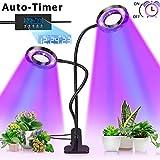 Pflanzenlampe, Pflanzenlicht mit UPGRADED Automatische Zeitschaltuhr, Lovebay 18W Rot Blau Dimmbar...