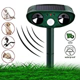 Vivibel Katzenschreck Ultraschall Solar, Wasser Tiervertreiber Ultraschall solar katzenschreck...
