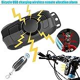 Crewell Diebstahlsicherung Professioneller Fahrrad Alarm, schaltet Fernbedienung Vibration Alarm...