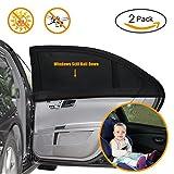 Auto Sonnenschutz für Baby 2 Stück, Autofenster Sonnenschutz für Kinder mit UV...