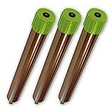 ISOTRONIC Maulwurfabwehr Vibrasonic mit ON/Off Schalter 3er Set Vibrationsmotor batteriebetrieben...
