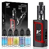 Kupbox E Zigarette Starter Set mit 5x10ml E Liquid ohne Nikotin, 80W E Shisha Dark Rider E Zigarette...