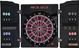 Dartona Elektronische Dartscheibe CB40 Cabinett - Turnierscheibe mit 27 Spielen und über 150...