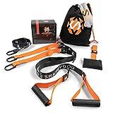 Septagon Sports Premium Sling Trainer Set V.2019 Suspension Trainer mit Handtuch, Rucksackbeutel und...