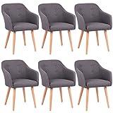 Kingpower 2/4/6/8 Set Stühle Esszimmerstühle Stuhl Sessel Armlehne Versch. Farben, Auswahl:6...