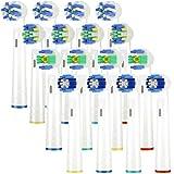 Aufsteckbürsten für Oral B, 4er Sensitive Clean EB17, 4er Precision Clean EB20,4er Floss Action,...