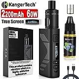 E Zigarette Starter Set Kangertech 60W 2200mAh Subox Mini V2 OLED Screen Verdampfer 2mL 0,8/1,5ohm,...