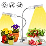 KINGBO 50W LED Pflanzenlampe Vollespektrum, 100 LEDs Grow Light White, Pflanzenlicht mit Dualem...