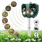Katzenschreck Ultraschall Solar, Nasharia Wasserdichte Utraschall Abwehr mit Batteriebetrieben und...