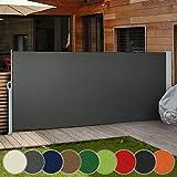 Ausziehbare Seitenmarkise für Balkon Terrasse Garten   Farbauswahl/Größenauswahl 160x300cm...