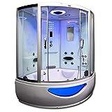 Home Deluxe - Duschtempel - Exclusive weiß - Maße: 150 x 150 x 220 cm - inkl. Whirlpool und...