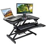 Kranich Höhenverstellbarer Schreibtisch Elektrisch Steharbeitsplatz Monitorständer...