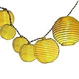 Dailyart Solar Lichterkette Aussen 5M 20er LED IP65 Wasserdicht Lampion/Laternen Solar Lichterkette...