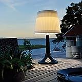 LED Solar-Schreibtischlampe, weiß, Nachtlicht, Innen- und Außen-Tischbeleuchtung. , plastik,...