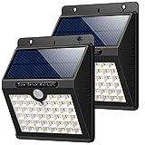Solarleuchte für Außen, [2 Stück] HETP 46 LED Solarlampe Superhelle Solarleuchte Garten mit...