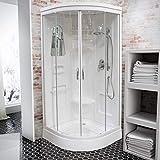 Wellnessdusche Schulte Fertigdusche Komplettdusche Duschtempel 92x92 cm Runddusche Glas weiß...