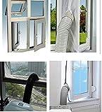 Mingran AirLock Abluft Fensterabdichtung für mobile Klimageräte Hot Air Stop (Abluft Fenster...