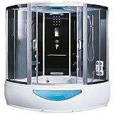 Home Deluxe - Duschtempel - Exclusive schwarz - Maße: 150 x 150 x 220 cm - inkl. Whirlpool und...