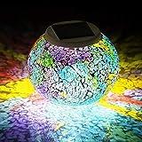 Mosaik Lampe Solar Gartenleuchten,KINGCOO Wasserdichte Farbwechsel Ball Stimmungslicht Nachtlichter...
