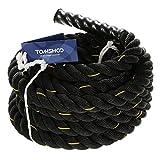 TOMSHOO Battle Rope Schwungseil Schlachtseil 10M/12M /15M Trainingsseil Sportseil Schlagseil für...