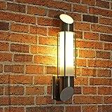 Design Aussenleuchte Edelstahl'Aarhus' Wandlampe / E27 bis zu 60W 230V IP44 Wasserschutz/Vielseitige...