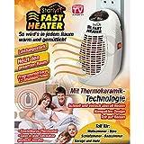 Starlyf Fast Heater - 400 Watt Tragbare und leistungsstarke Mini-Heizung mit Thermokeramik-...