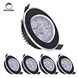 4er LED Einbaustrahler ultra flach B-right 5W LED Einbauleuchte Bad ultra flach Dimmbar...