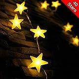 LED Lichterkette mit batterie, von myCozyLite, 40 warmweiße Sterne, für Innen und Außen...