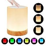 LED Nachttischlampe, Zorara Touch Dimmbar Nachtlicht LED Nachtlampe Stimmungslicht Tischlampe mit...