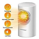 Mini Heizlüfter,Heater Heizlüfter,Small Office Space Heater Desktop Heater Überhitzungsschutz...