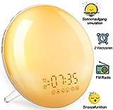 Tageslichtwecker Sonnenaufgang Lichtwecker mit Radio - 2020 Upgrade Wecker mit Licht für Kinder &...