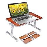 Neetto Tragbarer Betttablett, Höhenverstellbar Laptop Betttisch Tablett Bett Fruehstueck Notebook...