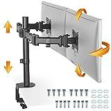 RICOO TS5811, Monitor Halterung 2 Monitore, Schwenkbar, Neigbar 15-27 Zoll (38-69cm) Tischhalterung...