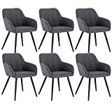 WOLTU 6 x Esszimmerstühle 6er Set Esszimmerstuhl Küchenstuhl Polsterstuhl Design Stuhl mit...