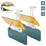 ACBungji 2 Stück Sonnenblende für Auto 2 in 1 Blendschutz Visier für Tag und Nacht Fahren Blenden...