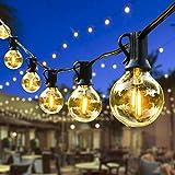 ORAOKO Lichterkette Glühbirnen G40, 7.6M 25 Birnen mit 2 Ersatzbirnen Warmweiß LED Lichterkette...