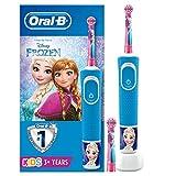 Oral-B Kids Frozen Elektrische Zahnbürste mit Disney-Stickern, 2 Aufsteckbürsten, für Kinder ab 3...