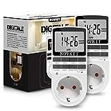 2x NOVKIT Digitale Zeitschaltuhr Steckdose mit 10 konfigurierbaren Schaltprogramme und...