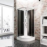 Schulte EP581018 Wellnesskabine Rhodos, 85 x 85 cm, 4 mm Sicherheits-Glas klar hell, Profile...