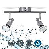 LED Deckenleuchte Bad-Deckenlampe Badezimmerleuchte Badezimmerlampe Deckenstrahler inkl. 2 x 5W...