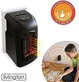 Livington Handy Heater | Mini-Steckdosen-Heizlüfter | Steckdosen-Keramik-Heizlüfter mit Thermostat...