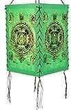 Guru-Shop Lokta Papier Hänge-Lampenschirm, Deckenleuchte aus Handgeschöpftem Papier - Buddha...