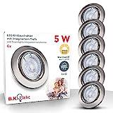 B.K.Licht I 6er Set LED Einbauleuchte I Dimmbar I Schwenkbar I Inkl. 5W GU10 I Leuchtmittel I...
